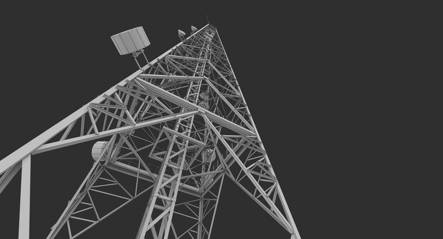 Telecommunication Tower royalty-free 3d model - Preview no. 15
