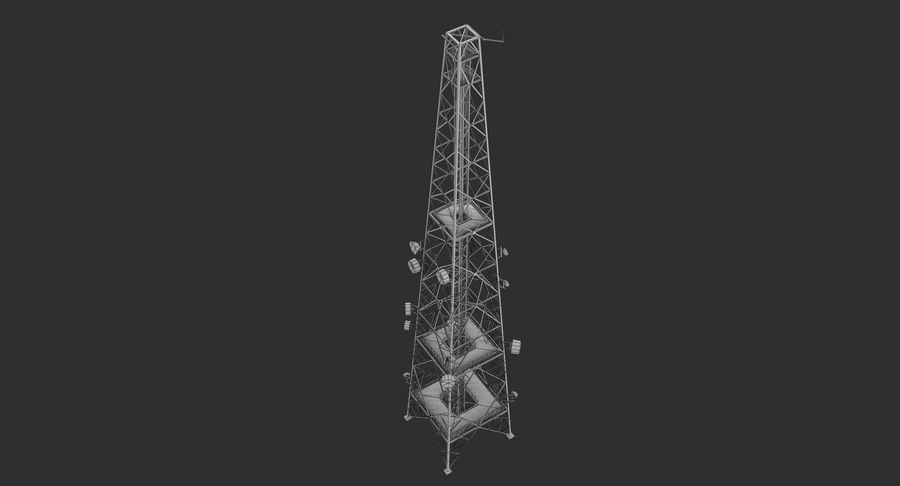 Telecommunication Tower royalty-free 3d model - Preview no. 17