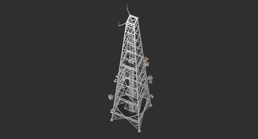 Telecommunication Tower royalty-free 3d model - Preview no. 13