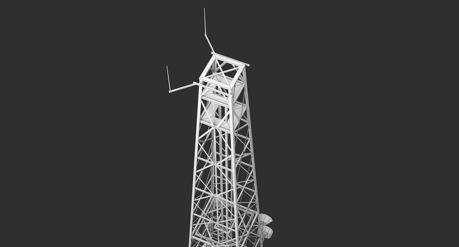 Telecommunication Tower royalty-free 3d model - Preview no. 16