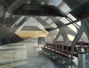Airport terminal 3d model