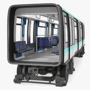 Subway Passenger Wagon 3d model