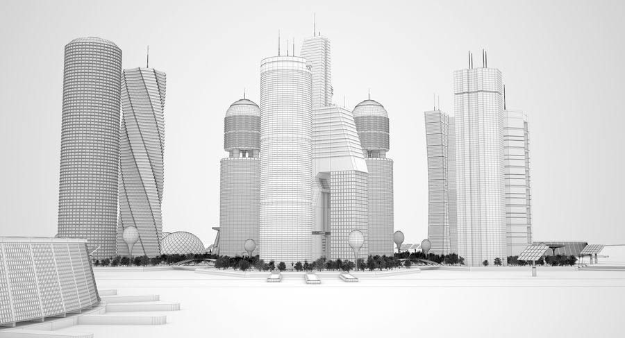 Sci Fi City royalty-free 3d model - Preview no. 24