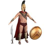 Król Leonidas 3d model