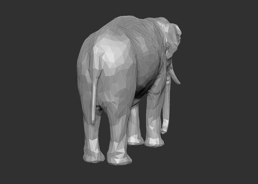 éléphant polygonal royalty-free 3d model - Preview no. 17