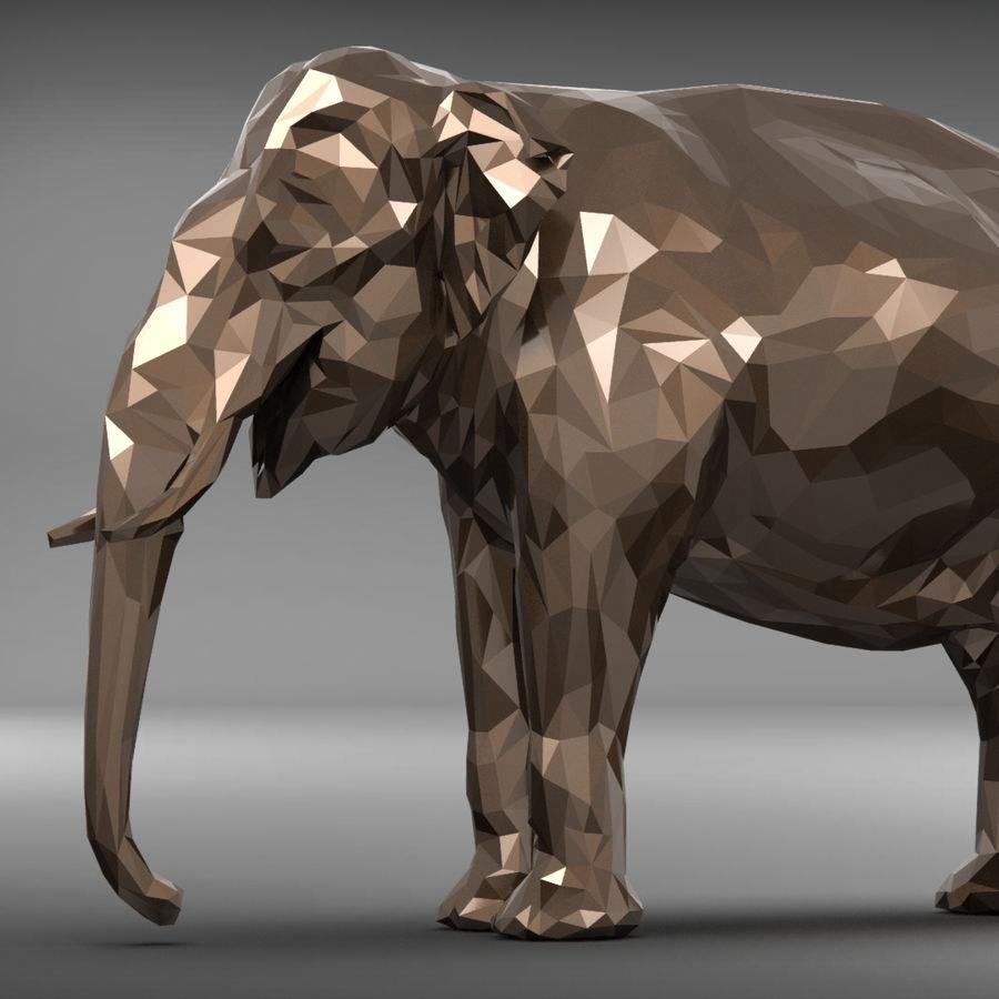 éléphant polygonal royalty-free 3d model - Preview no. 1
