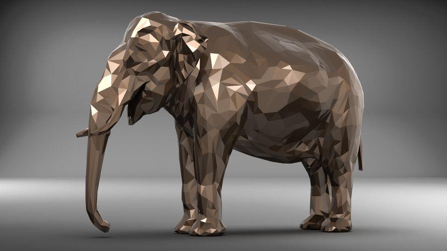 éléphant polygonal royalty-free 3d model - Preview no. 9