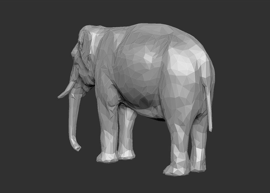éléphant polygonal royalty-free 3d model - Preview no. 16