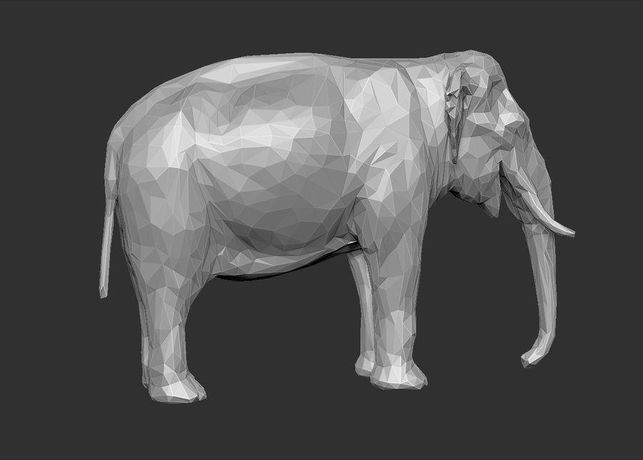 éléphant polygonal royalty-free 3d model - Preview no. 18