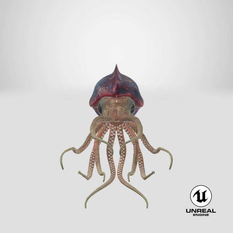 Squid Creature royalty-free 3d model - Preview no. 32