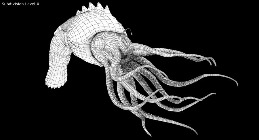 Squid Creature royalty-free 3d model - Preview no. 15