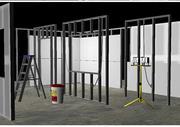 Torra vägguppsättning 3d model