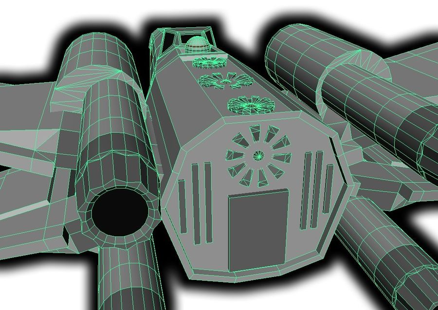 combattant X-Wing royalty-free 3d model - Preview no. 5