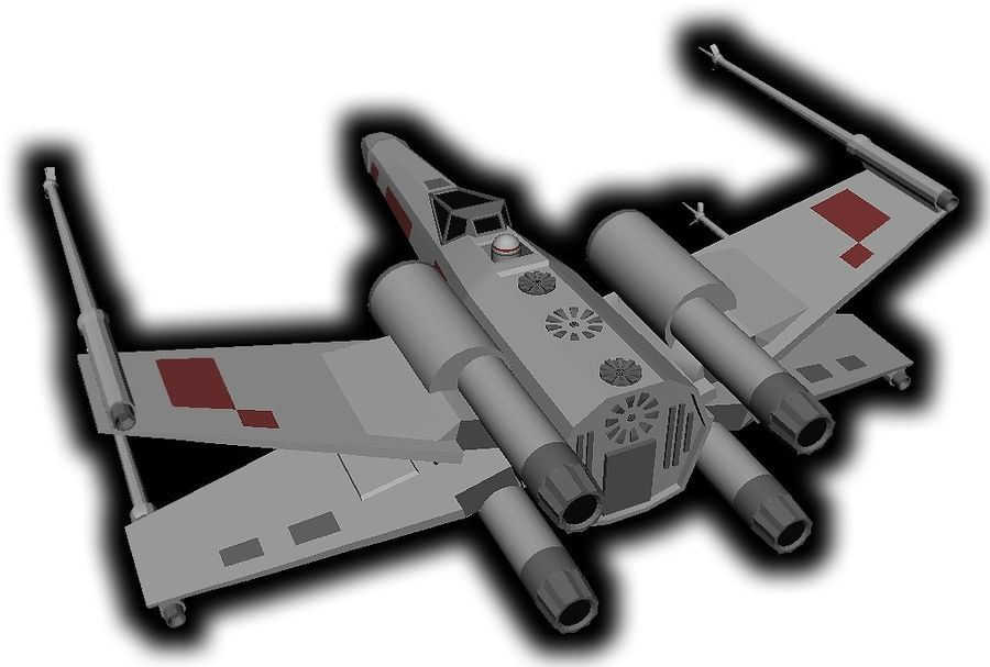 combattant X-Wing royalty-free 3d model - Preview no. 4
