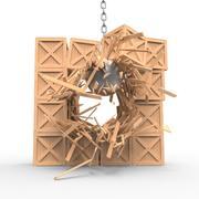 Wooden boxes demolition 3d model