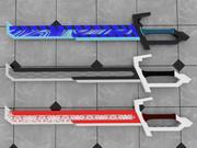 långt svärd 3d model