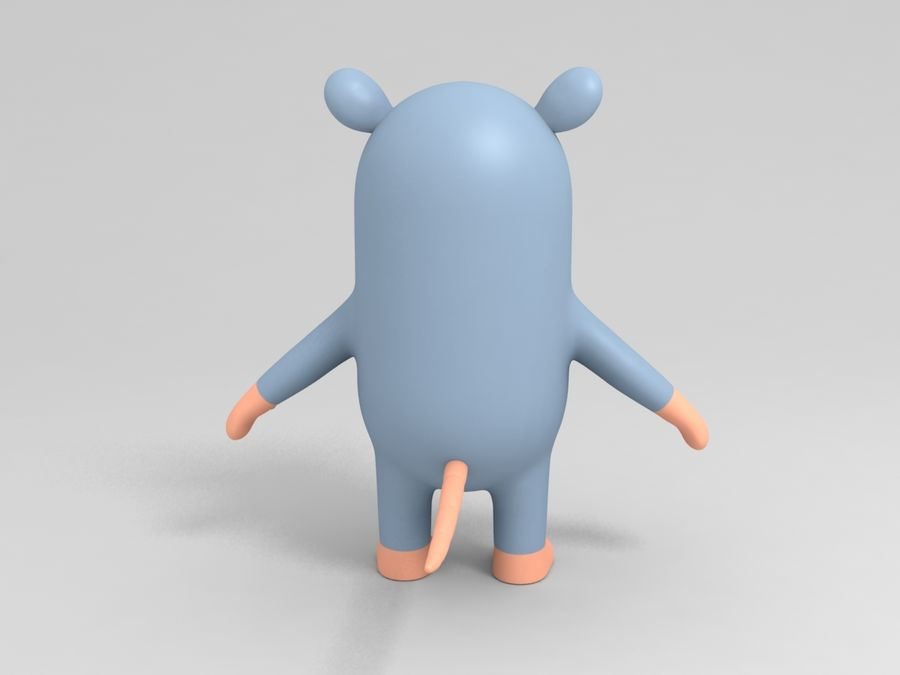 Rat Character royalty-free 3d model - Preview no. 4