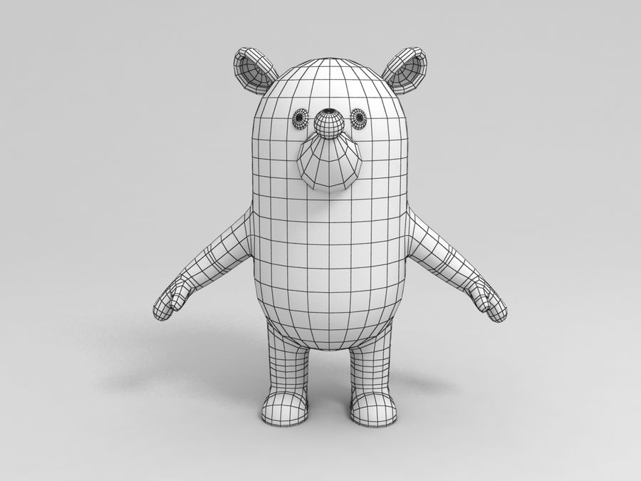 Rat Character royalty-free 3d model - Preview no. 2