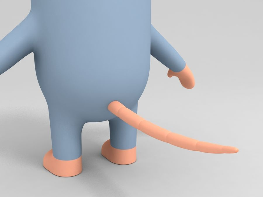 Rat Character royalty-free 3d model - Preview no. 7