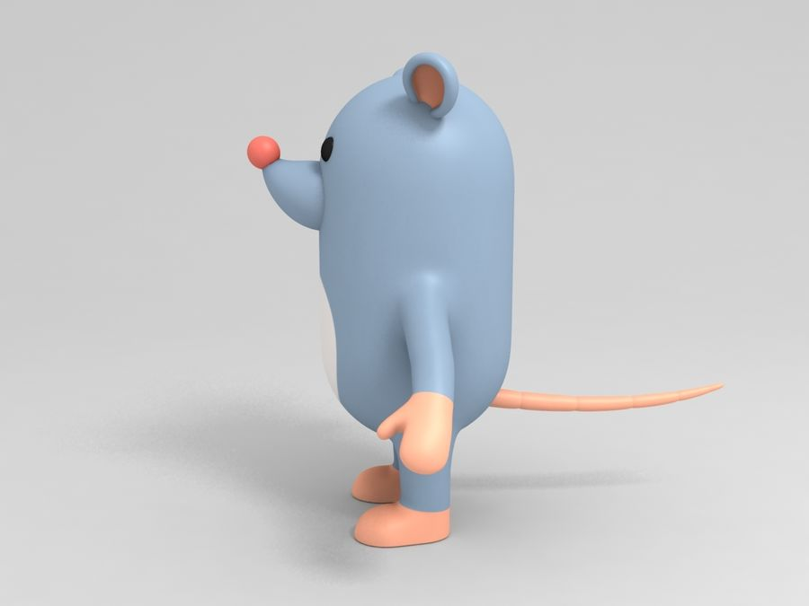 Rat Character royalty-free 3d model - Preview no. 5