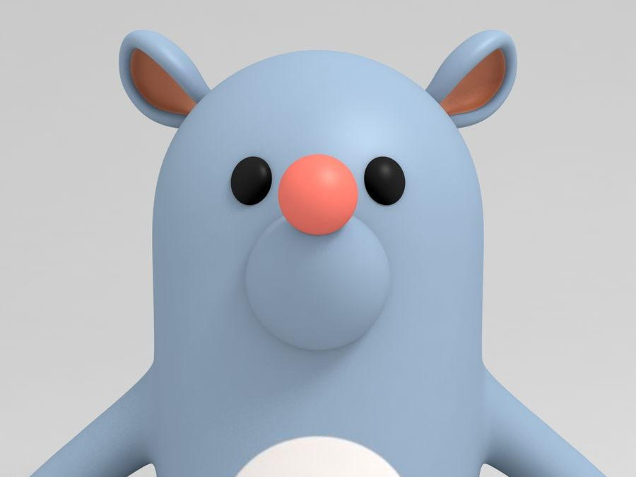 Rat Character royalty-free 3d model - Preview no. 6