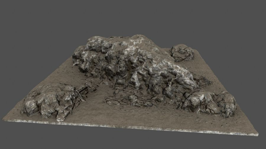 klif rots royalty-free 3d model - Preview no. 4