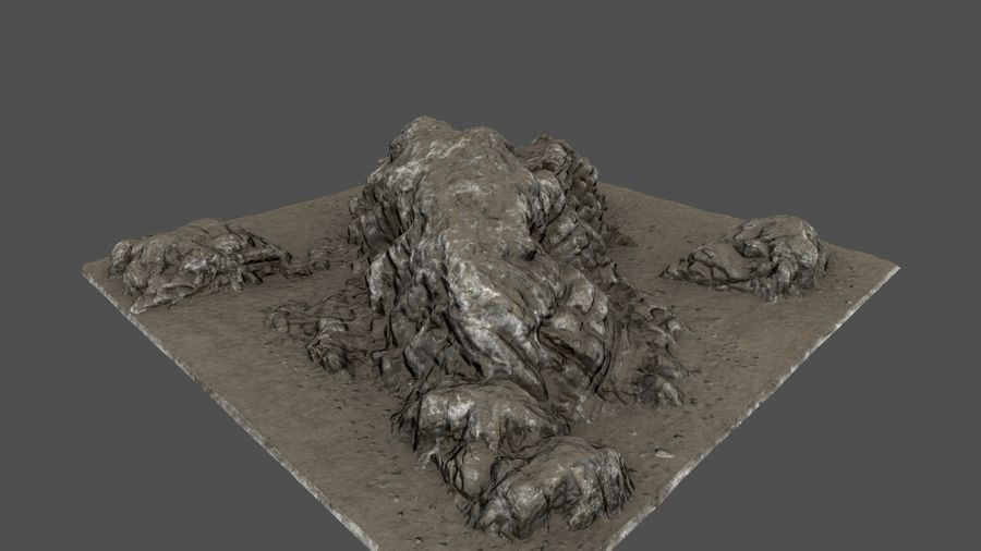 klif rots royalty-free 3d model - Preview no. 3