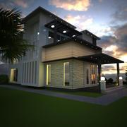 最佳家庭别墅 3d model