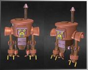 蒸汽机器人 3d model