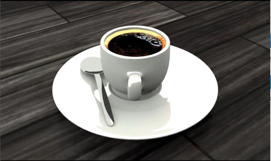 Tasse à café royalty-free 3d model - Preview no. 5