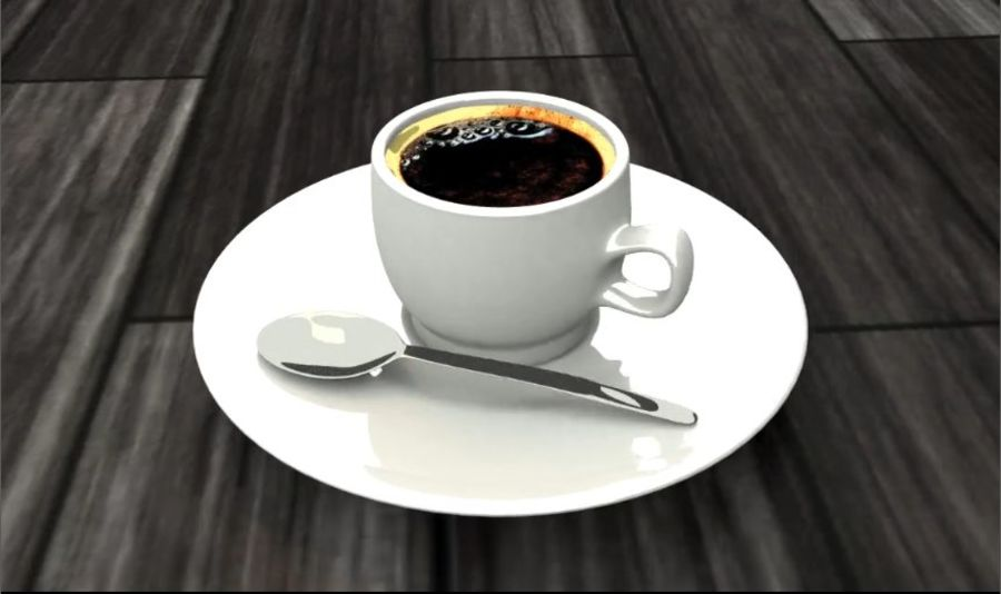 Tasse à café royalty-free 3d model - Preview no. 4