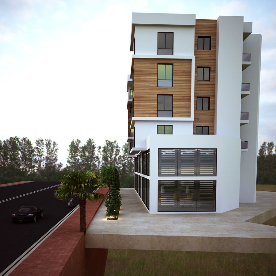 Home Building Exterior Architecture royalty-free 3d model - Preview no. 3