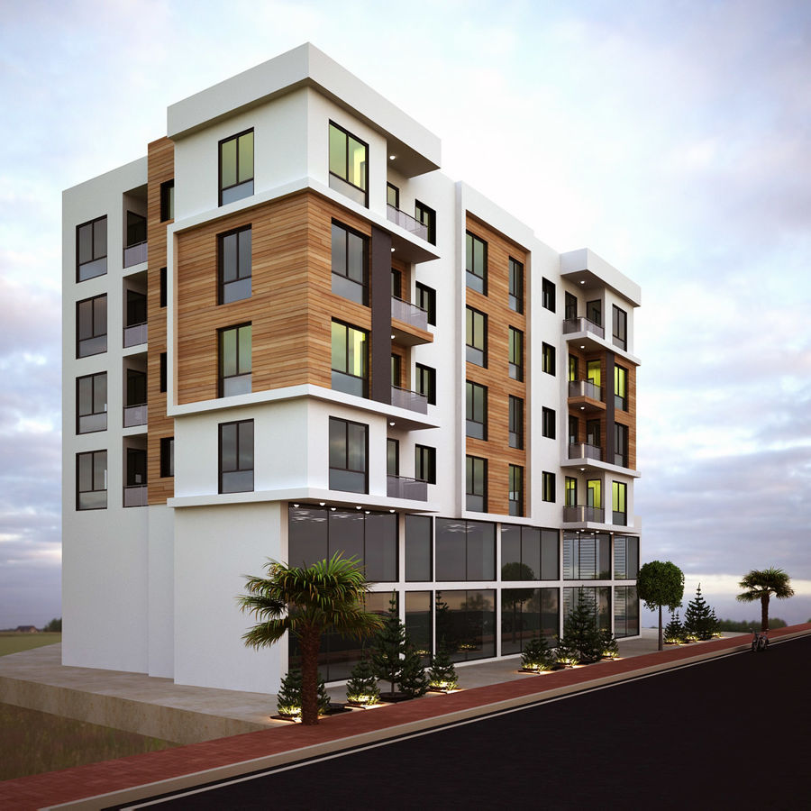 Home Building Exterior Architecture royalty-free 3d model - Preview no. 2