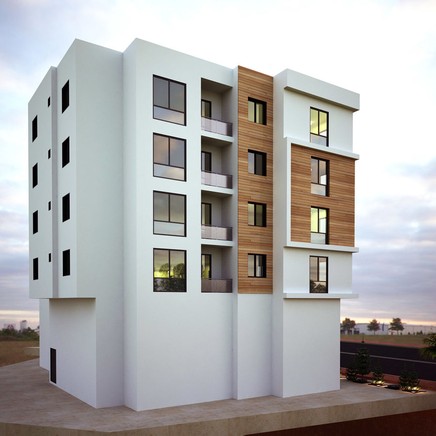Home Building Exterior Architecture royalty-free 3d model - Preview no. 5