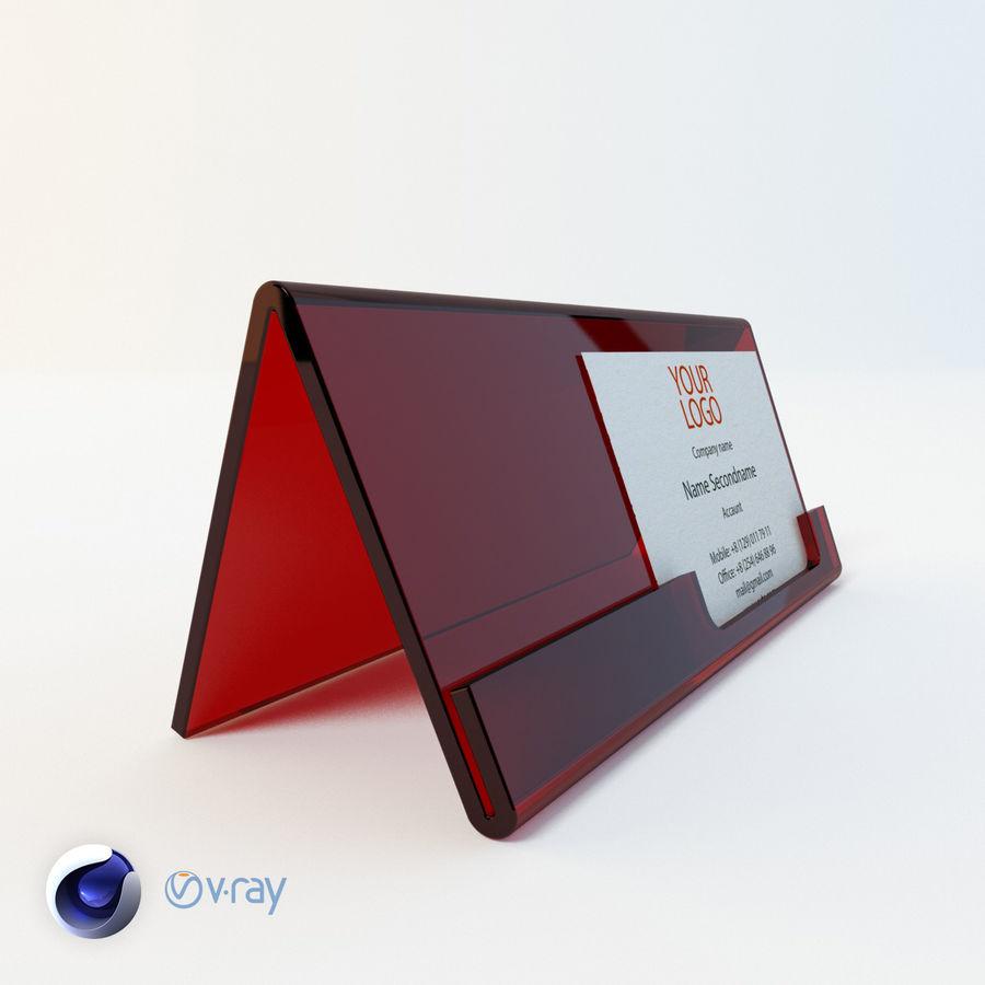 Titular do cartão de visita royalty-free 3d model - Preview no. 4