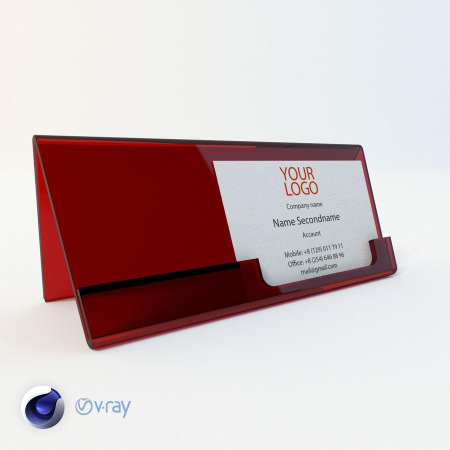 Titular do cartão de visita royalty-free 3d model - Preview no. 1