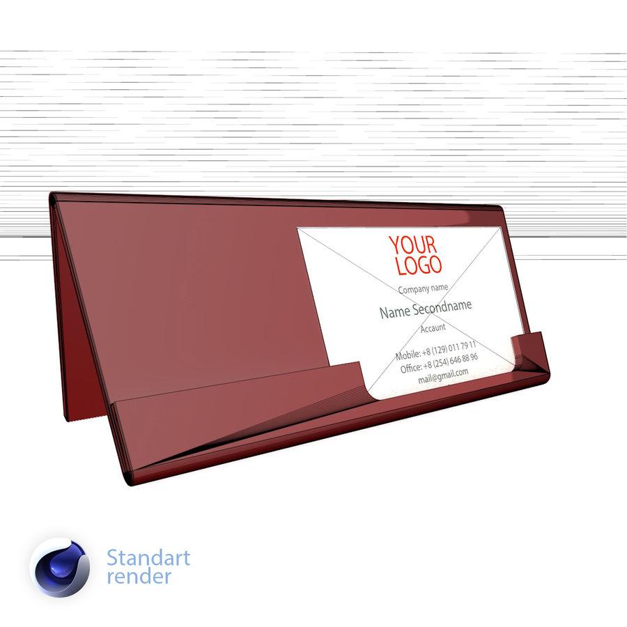 Titular do cartão de visita royalty-free 3d model - Preview no. 3