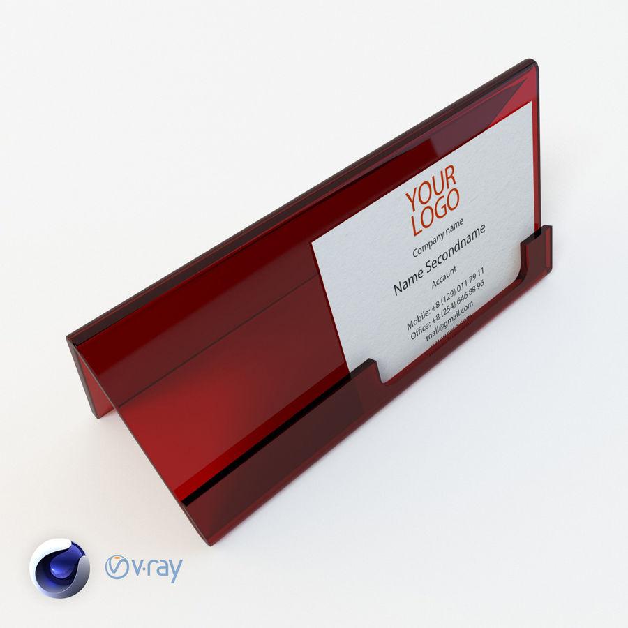 Titular do cartão de visita royalty-free 3d model - Preview no. 5
