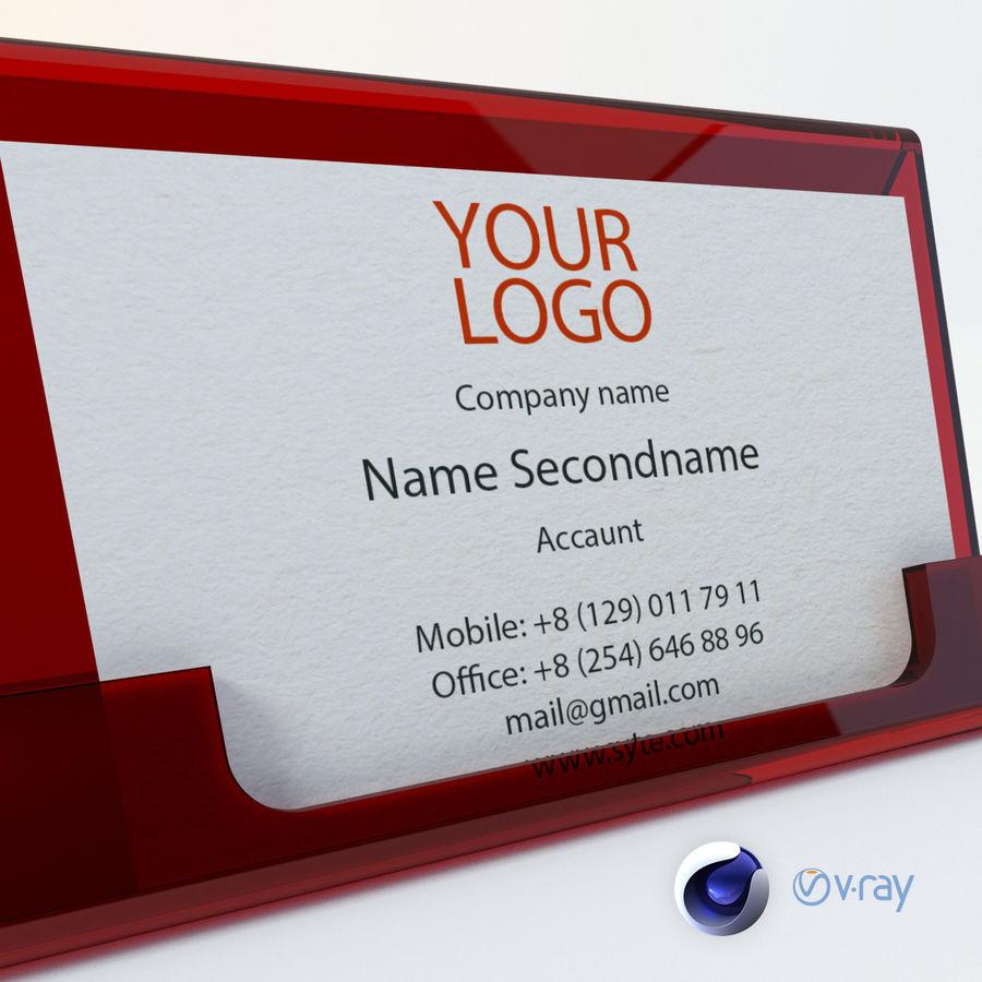 Titular do cartão de visita royalty-free 3d model - Preview no. 6