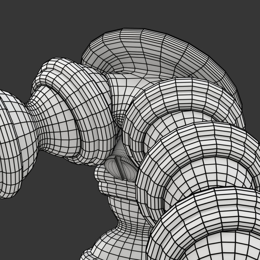 Trípode Gorillapod aparejado para cámara DSLR royalty-free modelo 3d - Preview no. 26