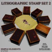 平版印刷邮票2 3d model