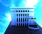 BourgasCapitalBuildingFasad 3d model