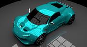 Supercar concept 3d model
