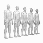 Männliches Body Base Mesh in Ruhepose 3d model
