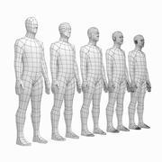 Siatka podstawy męskiego ciała w spoczynku 3d model