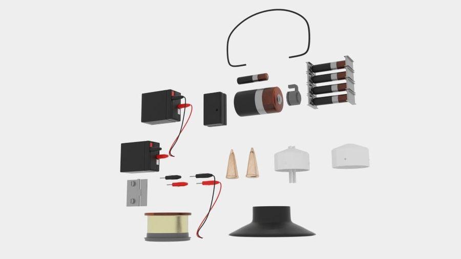 Pacchetti di componenti elettronici royalty-free 3d model - Preview no. 4