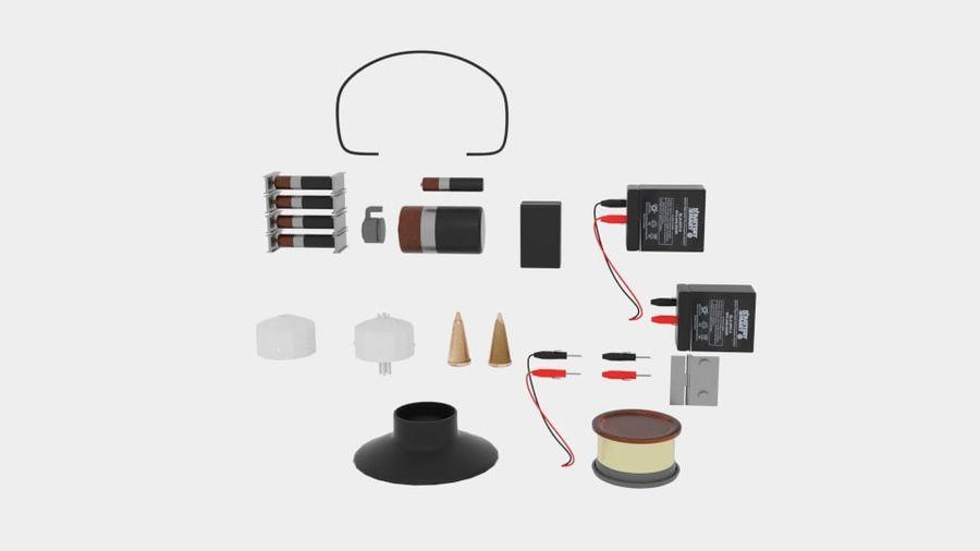 Pacchetti di componenti elettronici royalty-free 3d model - Preview no. 2