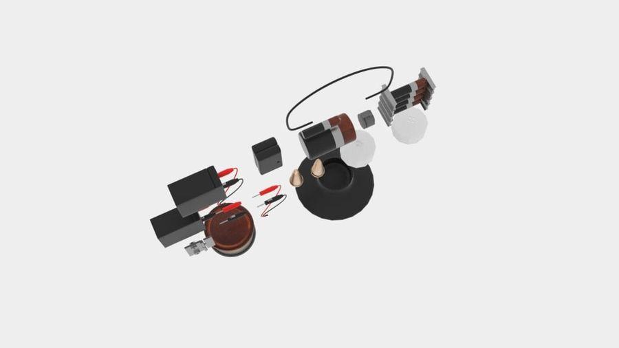 Pacchetti di componenti elettronici royalty-free 3d model - Preview no. 3