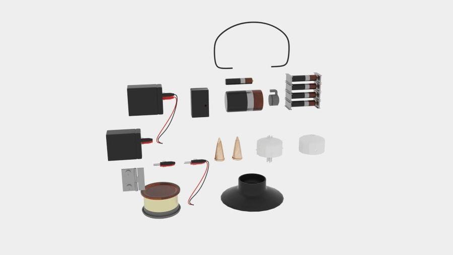 Pacchetti di componenti elettronici royalty-free 3d model - Preview no. 1