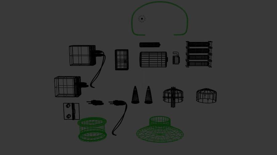 Pacchetti di componenti elettronici royalty-free 3d model - Preview no. 6